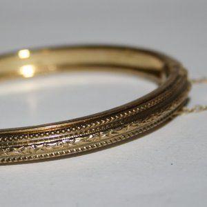 Vintage gold Whiting & Davis Co. bangle bracelet